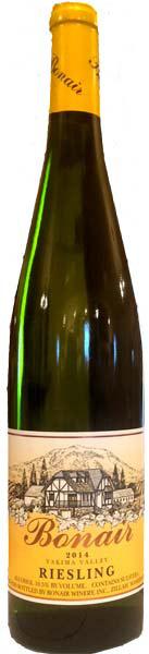 "Bonair Winery ""Yakima Valley"" Riesling"