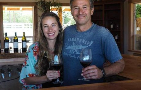 Winemaker, Paul Sobon with his daughter, Camile