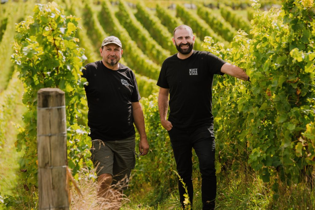 Misty Cove - Emmanuel Bolliger, winemaker & Andrew Bailey, founder