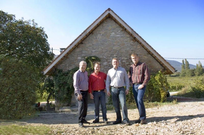 Gilbert Perrier and his 3 sons, Philippe, Christophe, and Gilles