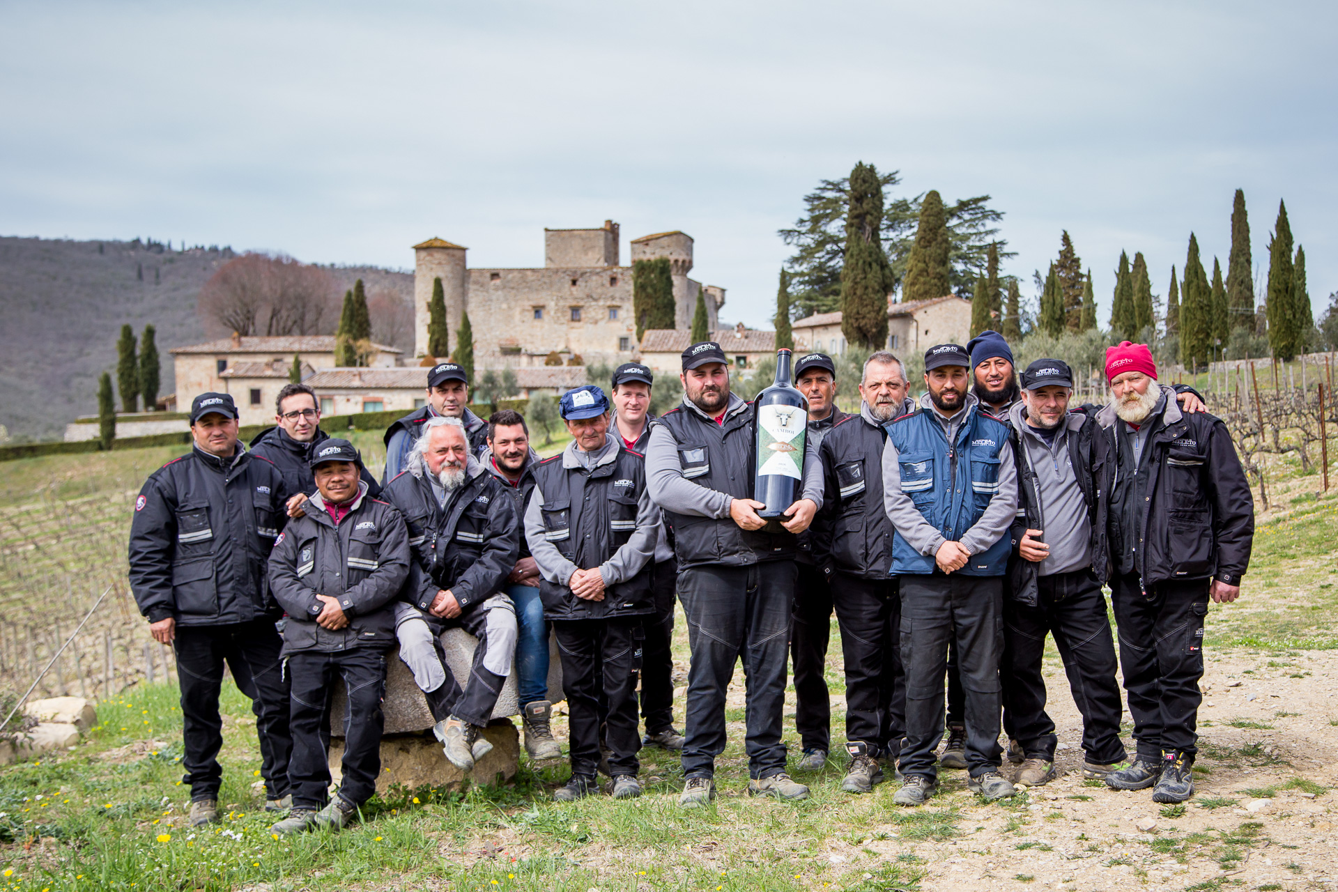 Castello di Meleto Vineyard Team Photo